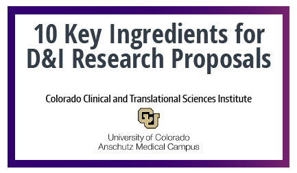 10 Key Ingredients for D&I Research Proposals